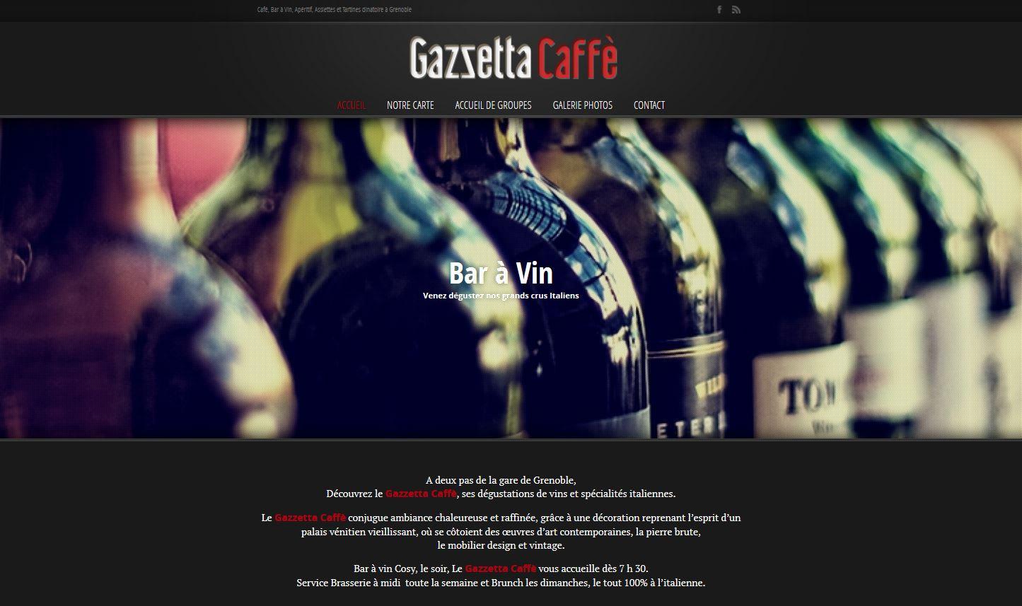 Site Internet Gazzetta Caffe
