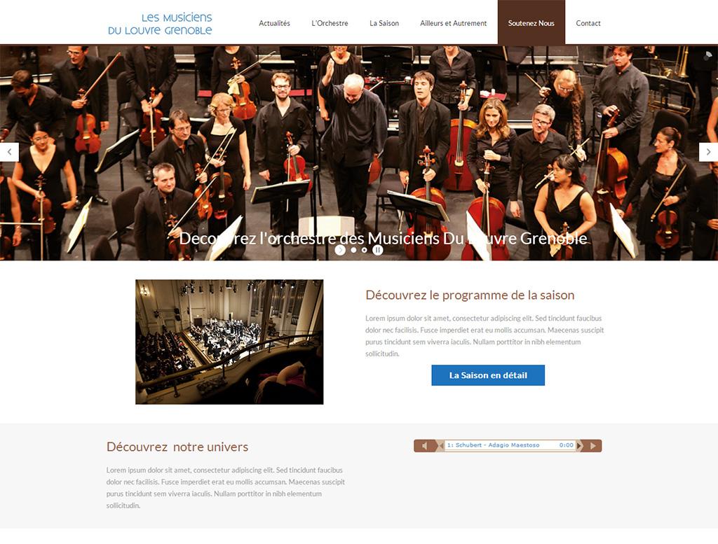 Refonte du site web des Musiciens du Louvre Grenoble